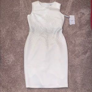 Calvin Klein white crystal dress